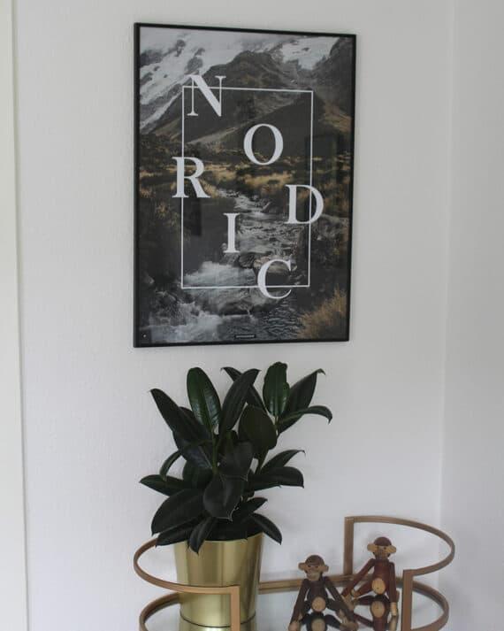 Nordic plakat - Natur og tekst plakat