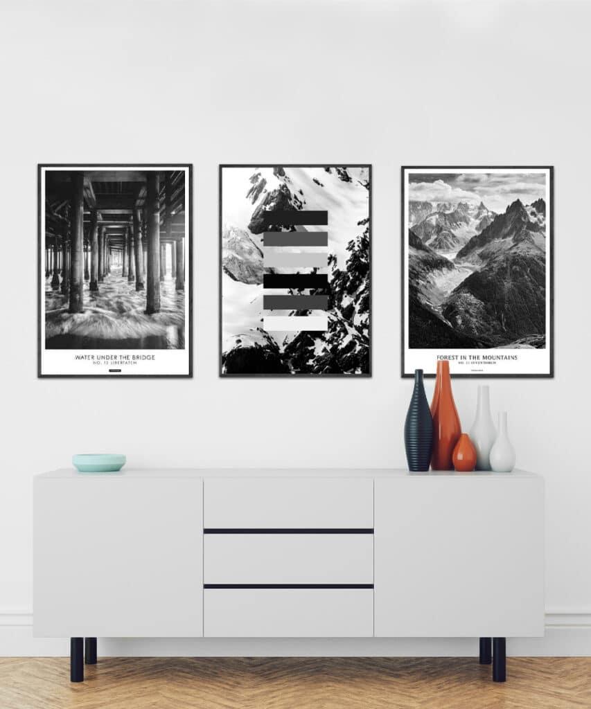 Adventure plakatsæt - plakatsæt bestående af 3 plakater