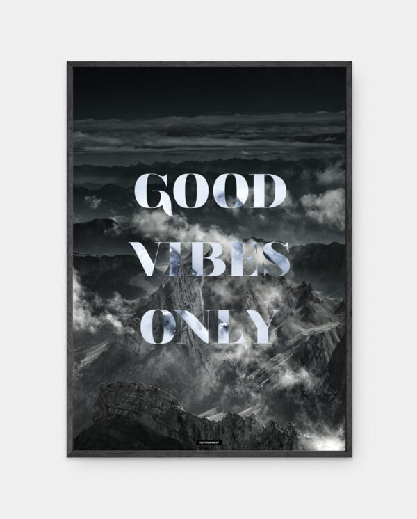 Good Vibes Only plakat i ramme