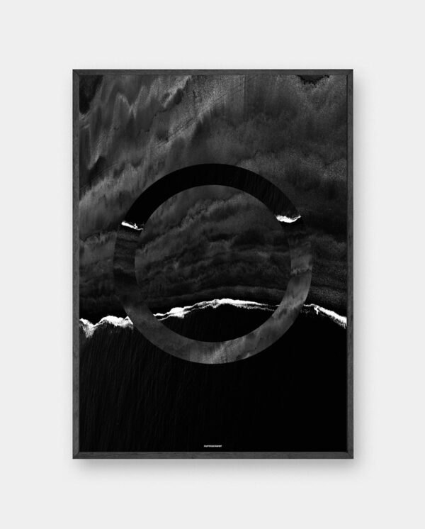 The Beach plakat i mørk ramme