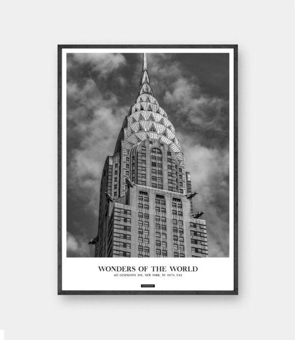Chrysler New York plakat - By plakat fra New York i sort ramme