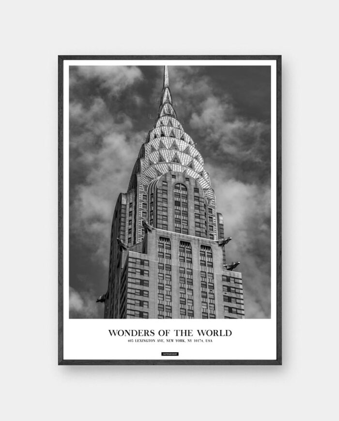 Chrysler New York plakat - By plakat fra New York i sort ramme
