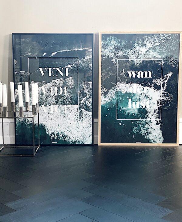 Vini Vidi Vici & Wanderlust plakatsaet