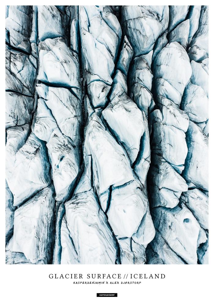 Glacier Surface plakat - produktbillede