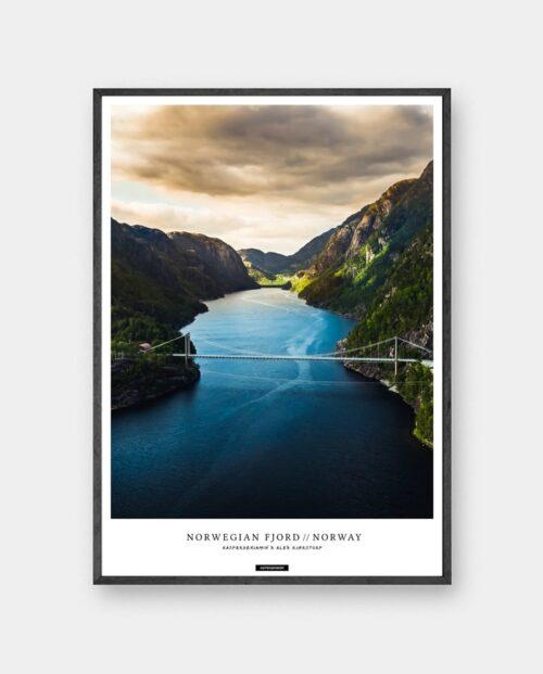 Norwegian Fjord plakat