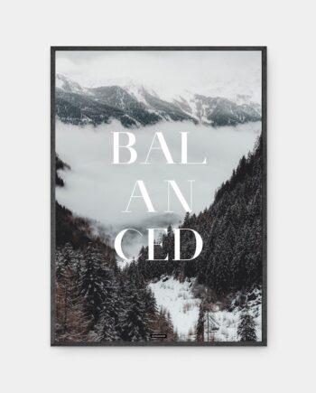 Balanced plakat