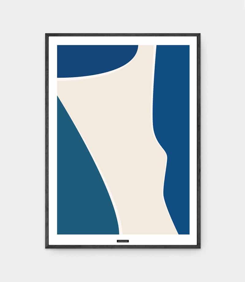 Blue Shapes No.1