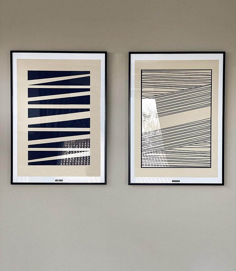 Abstrakt No. 1 og 2
