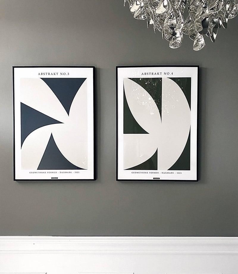 Abstrakt No.3 og 4 plakater