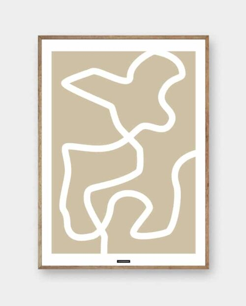LINES NO. 2 - abstrakt kunst plakat