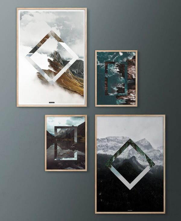 Upside Down Nature billedvæg med natur plakater