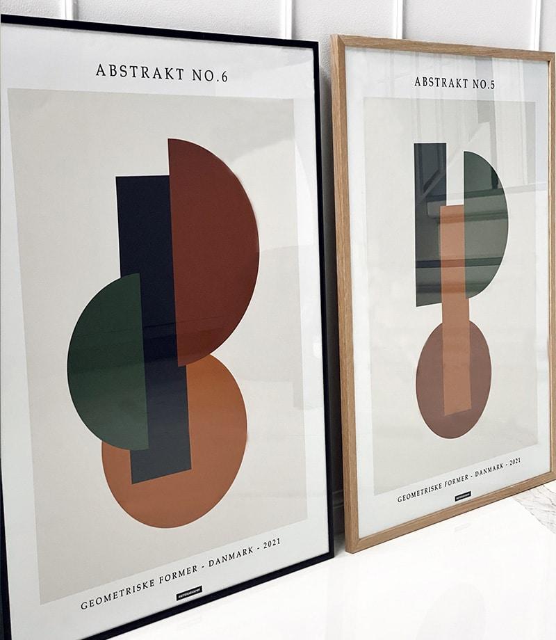 Abstrakt No.5 & 6 plakatsaet