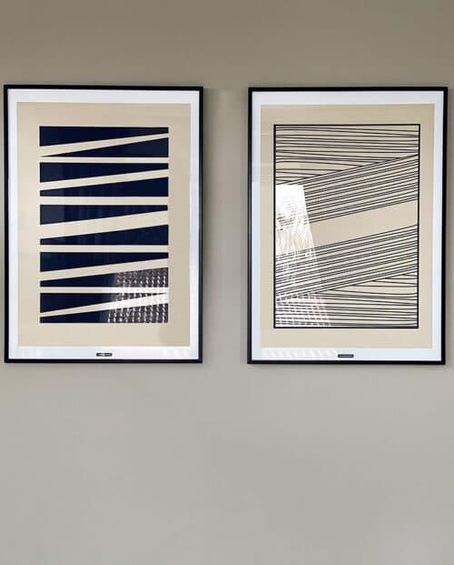 Abstrakt No. 1 & 2 plakatsæt