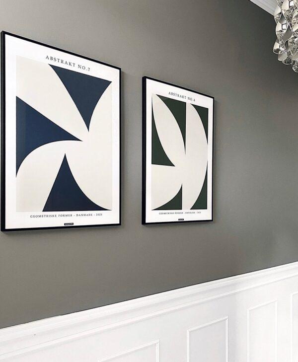 Abstrakt No.3 & No.4 plakatsæt