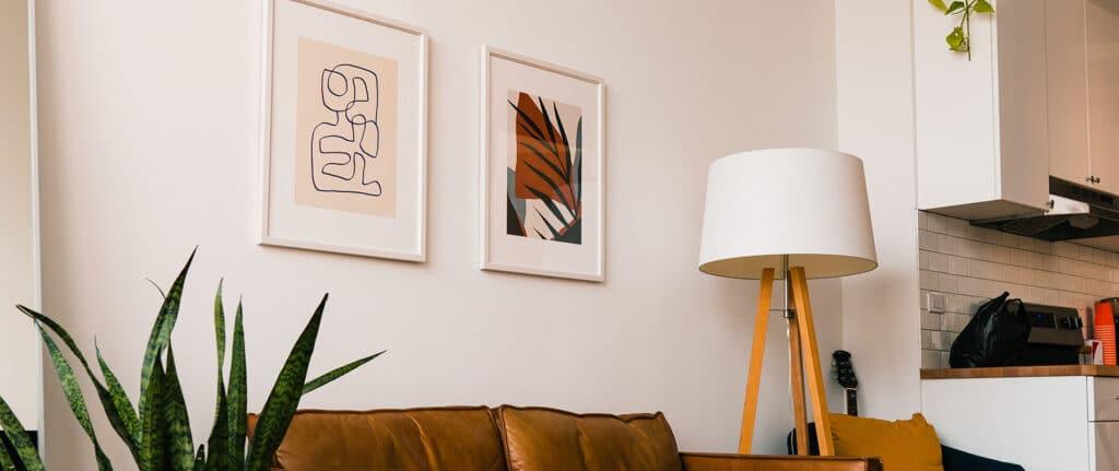 Abstrakte plakater til hjemmet